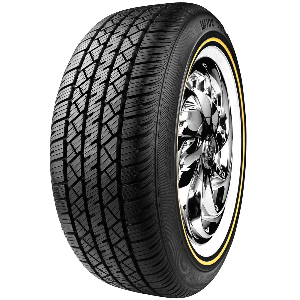 Vogue White And Gold Tires Free Shipping
